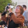 Deirdré Straughan filming, 2008