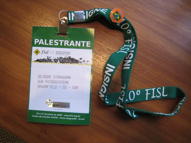 badge to see the President of Brazil