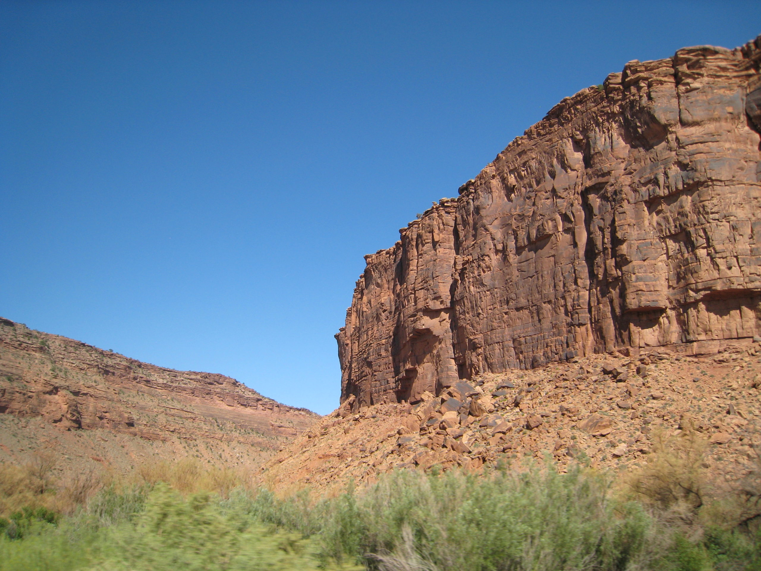 cliff face in the Colorado River gorge