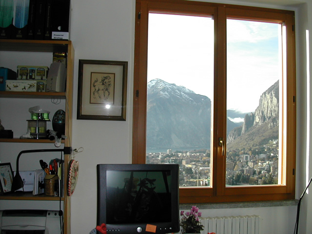 the view from my studio, Lecco