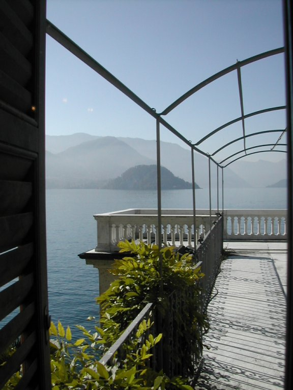 view from Villa Monastero, Varenna, Lake Como, Italy