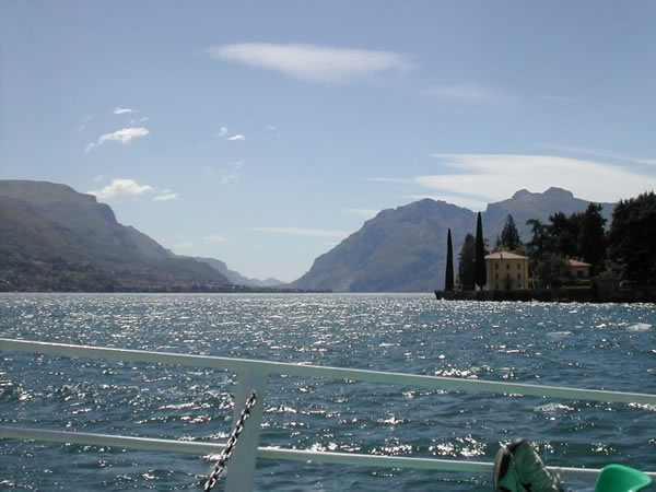 view from boat, Lake Como, Italy