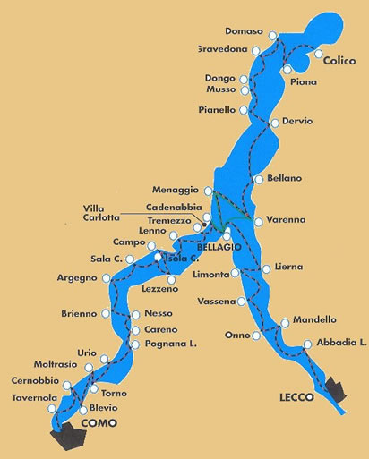 The Lake Como Car Ferry Countries Beginning with I