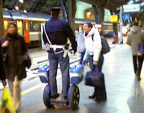 March, 2006, Milan Central Station - the police have new toys!