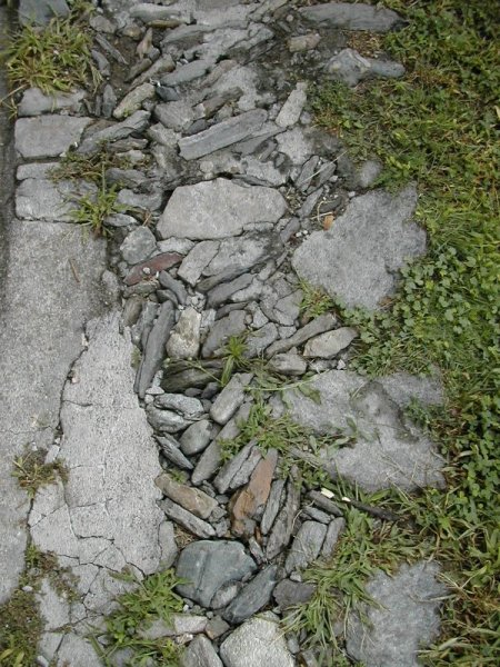 stone path, Italian Alpine village