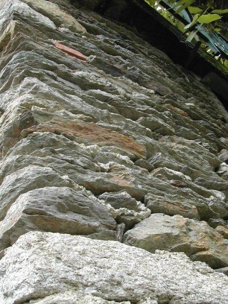 dry stone wall, Italian Alpine village