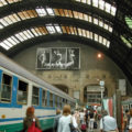 Armani posters in Milan's Central Station