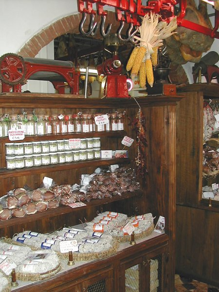 salame and canned goods,  Macelleria Falorni, Greve del Chianti, Tuscany