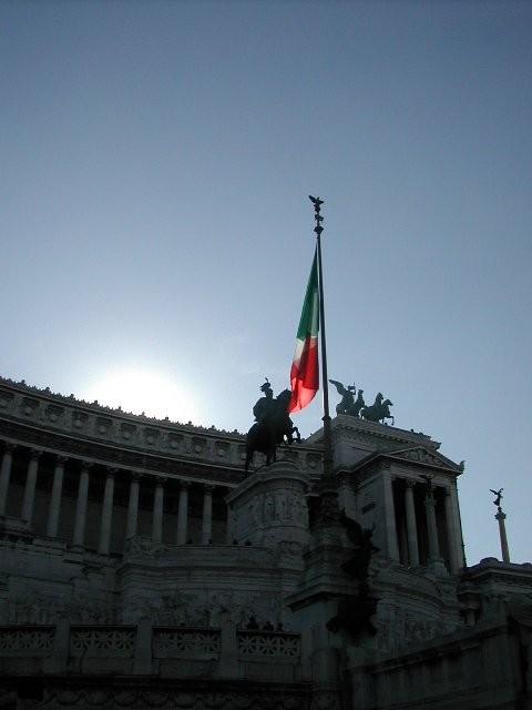 Italians Flying the Flag