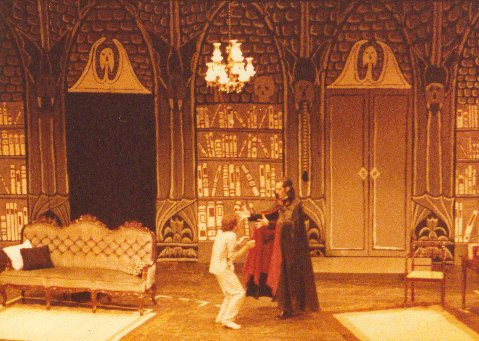 Martin Baynes as Renfield and Mike Nicklin as Dracula, Jakarta 1984