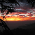 winterline sunset from Landour