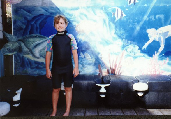 Ross in a wetsuit, Martinique