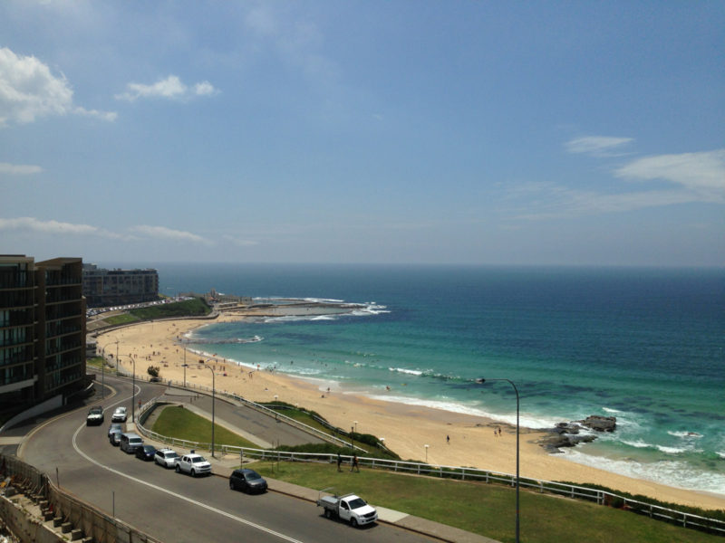 view from Arvia apartments, Newcastle, NSW, before new construction