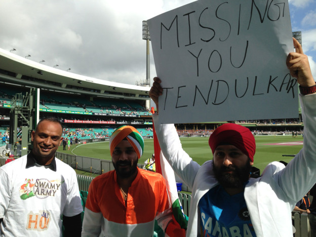 Indian cricket fans in Sydney
