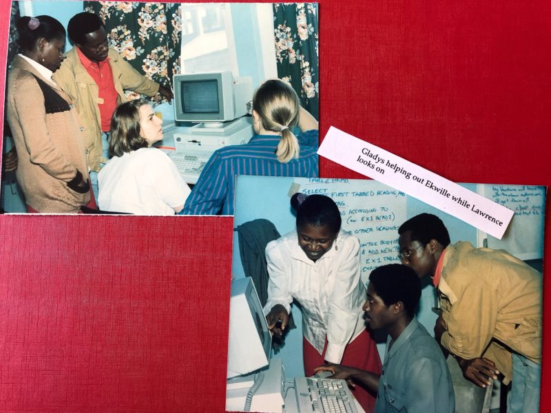 teaching desktop publishing in Cameroon, 1988