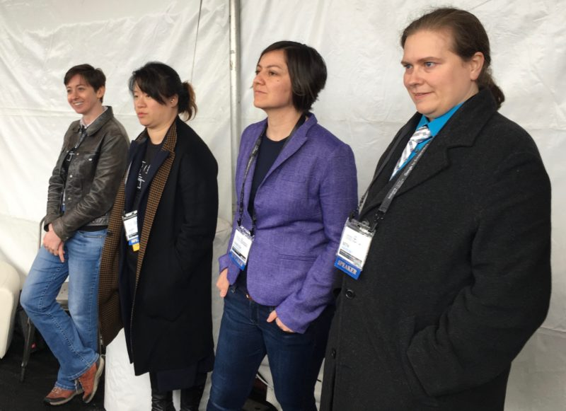 Lesbians Who Tech - women who worked on the technology for Hillary Clinton's campaign.